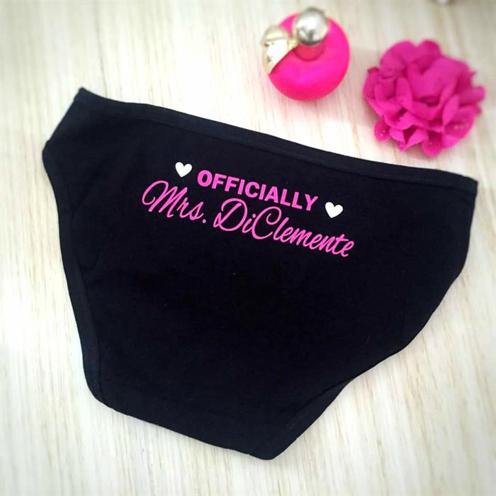 large assortment online retailer beautiful design Officially Mrs Undies; wedding underwear; personalised ...