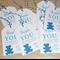 Thank you gift tags - teddy bear