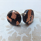 Black and Copper Leaf Polymer Studs