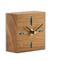 The Block - A desk clock made from American Oak wood