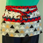 Vendor utility tool teacher craft cafe server daycare half apron with 6 pockets