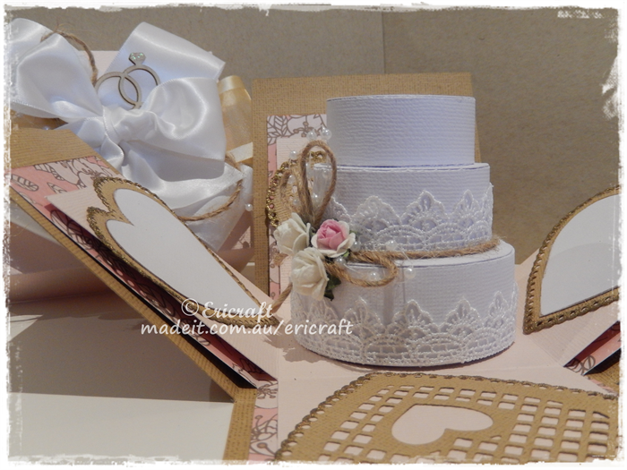 Round cake box explosion card Ericraft – Round Wedding Card Box