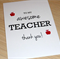 Awesome Teacher thank you card - can be personalised