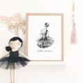 Little Dancer - Children's art. Watercolour ballerina. A4 Print