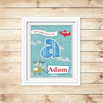 Childrens PERSONALISED - PRINTABLE -  Wall Decor