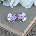 Lilac Earrings, Purple Bridesmaid Earrings, Swarovski Earrings, Mauve Earrings