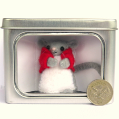 Felt Mouse Miniature - mini doll house softie toy