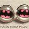 Batgirl Glass Dome Cabochon Stud Earrings