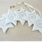 Gold and white Christmas decorations, ornaments. ceramic stars. Teachers gift.