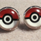 Stainless Steel Pokémon Glass Dome Cabochon Stud Earrings