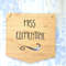 Personalised Wooden Bamboo Door / Wall hanging 'Miss' Flag Design