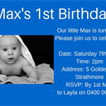 Baby's 1st Birthday Invitation