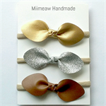 Mixed Faux Leather Knot Headband Set