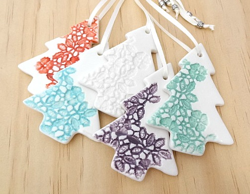 christmas decorations ornaments ceramic christmas trees teachers gift - Ceramic Christmas Decorations