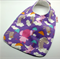 Baby Dribble Bib, Animal Friends Cotton Fabric Bamboo Toweling, Snap Fastened.