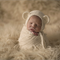 Baby Bear Bonnet  / Newborn Photography / Cream / Cheeky Monkey Hat