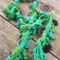 Beaded necklette. Original design made from hand dyed silk and glass beads