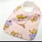 Baby Dribble Bib, Ballerina Bears Cotton Fabric, Bamboo Toweling, Snap Fastened.