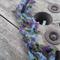 Beaded necklette. Original design made from hand dyed silk and natural amethyst