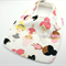 Baby Dribble Bib, Ballerinas on  Cotton Fabric, Bamboo Toweling, Snap Fastened.