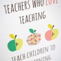 Teacher Card - Teachers Quote with Apples - TEA007 - Thank You Card