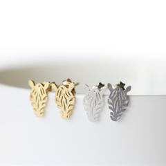 Zebra Silver Earrings