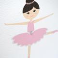 Girls Birthday Card Girl, Ballerina Card, Card for Girls, HBC204