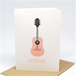 Birthday Card Girl - Dusty Pink Guitar - HBC206