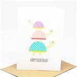 Birthday Card Boy or Girl - 3 Turtles - HBC201