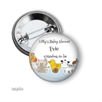 10 Baby shower badges. Nursery mobile
