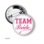 Medium badge - 10 'Team Bride' - hens party badge