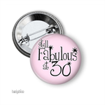 Large Birthday Age Badge - 30