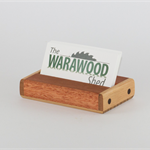 Wooden Business Card holder made from Australian native timbers.