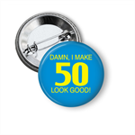 Large Birthday Age Badge - 50