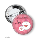 10 Medium badges - Hen and chick party badges