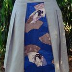 Japanese yukata panel skirt