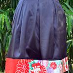 Kimono silk edged skirt