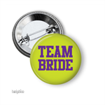 Medium badge - 10 'Team Bride' - hens party badge