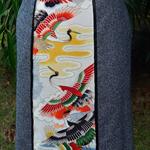 Japanese kimono silk panel skirt