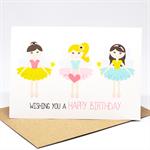 Birthday Card Girl - 3 Fairies - HBC207