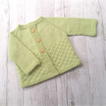 Little Cardigan - Hand Knitted - Size 1 - 100% Australian Wool
