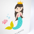 Girl Birthday Card, Mermaid Card, Card for Girls, HBC208