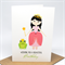 Birthday Card Girl - Princess with a Wand and Frog - HBC209