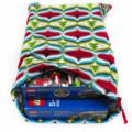 Christmas Gift Bag - Large. Reusable & Eco Friendly. Fabric Bag. Trees & Baubles