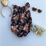 Size 0 - Ruby Floral Flutter Sleeve Romper Playsuit