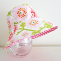 SPOILED- Girls summer hat in sweet floral fabric- Small size