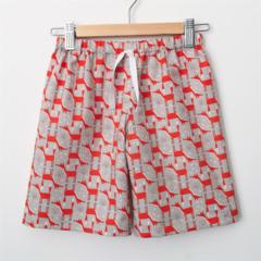 Size 2 - Shorts - Foxes - Retro - Grey - Woodland Animals