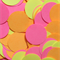 Fluoro Pink, Yellow and Orange Circle Table Scatters (300 Circles)