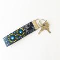 Aboriginal Dancing Spirit Blue Key Fob