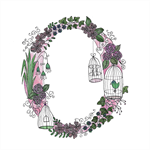 Cute Floral Letter O A4  Print